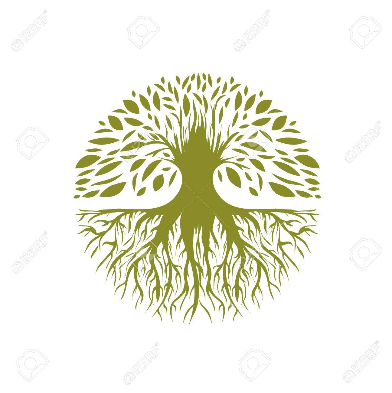 Illustration of Abstract Round Tree - 38935819