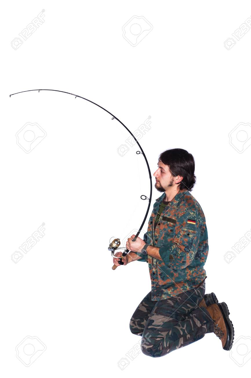 A man with a fishing rod 60