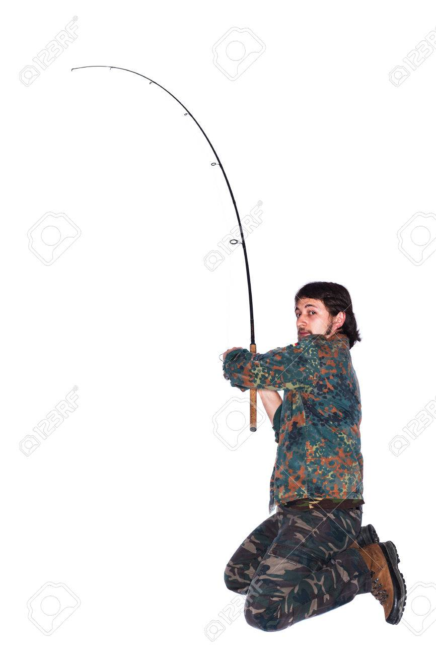 A man with a fishing rod 19