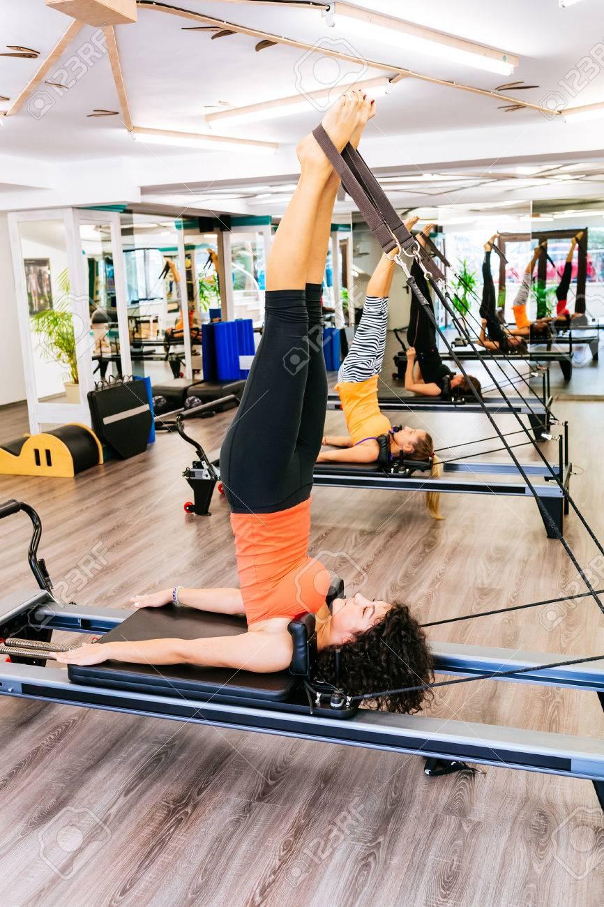 Shoulder Stand Pilates Reformer