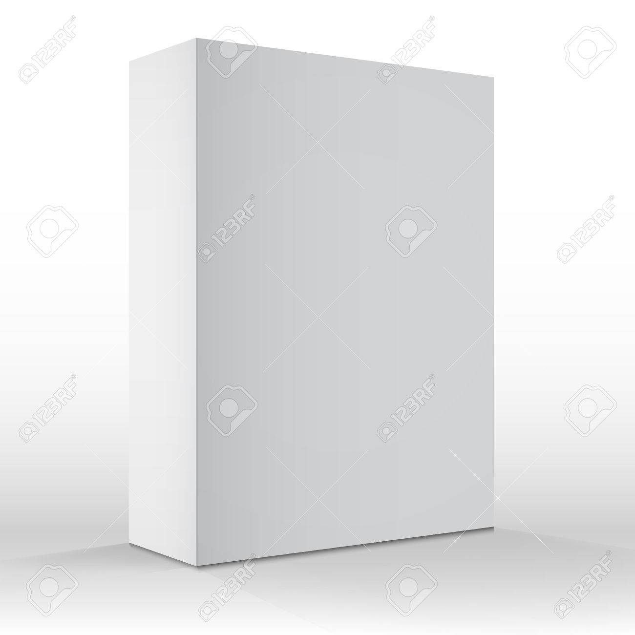 illustration of realistic vector blank white packaging box template