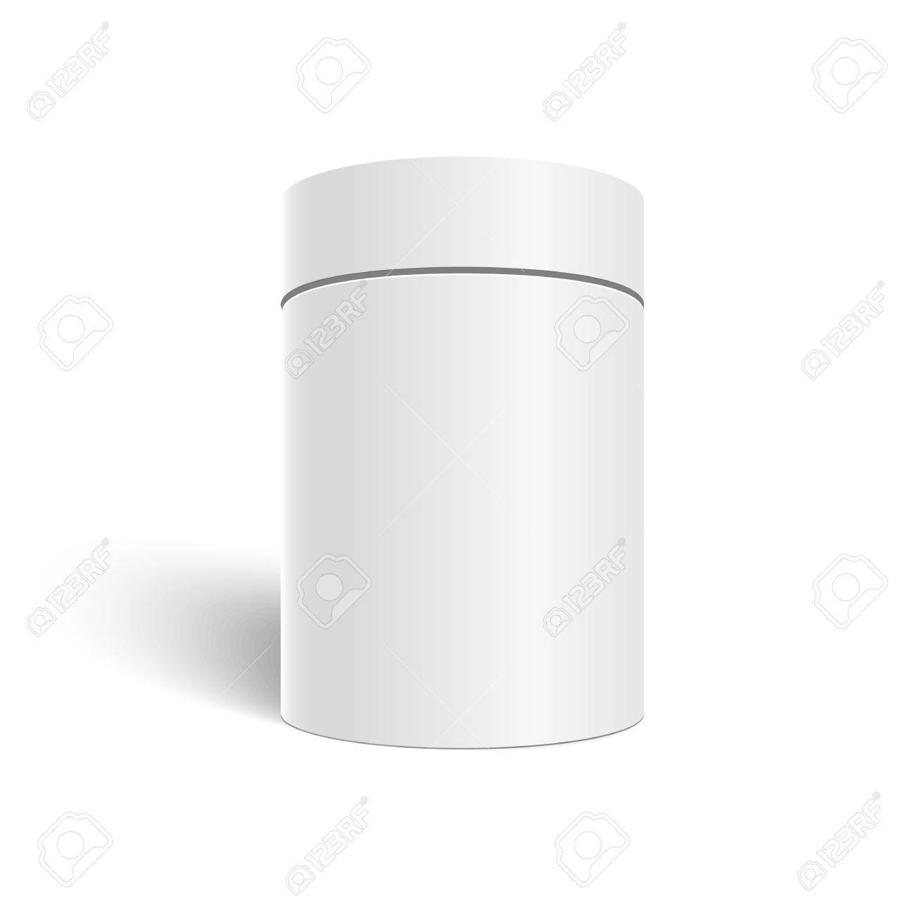 白い 3 d シリンダー白い背景で隔離のイラスト お茶とお店のコーヒーが