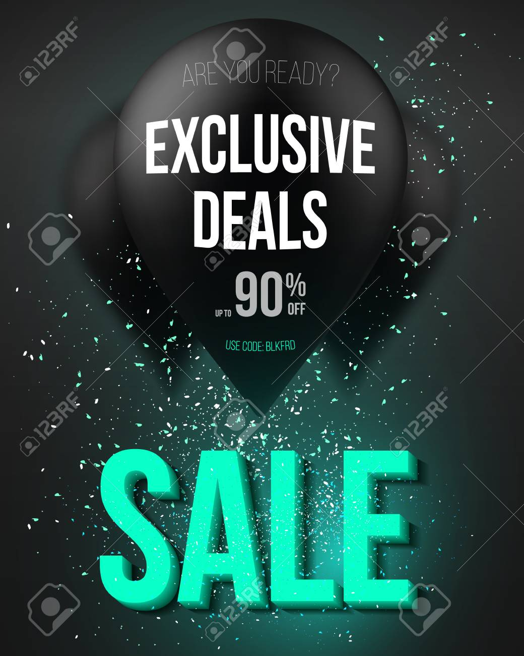 Illustration Of Balloon Sale Poster With Explosion Effect Big Royalty Free Cliparts Vectors And Stock Illustration Image 50015315