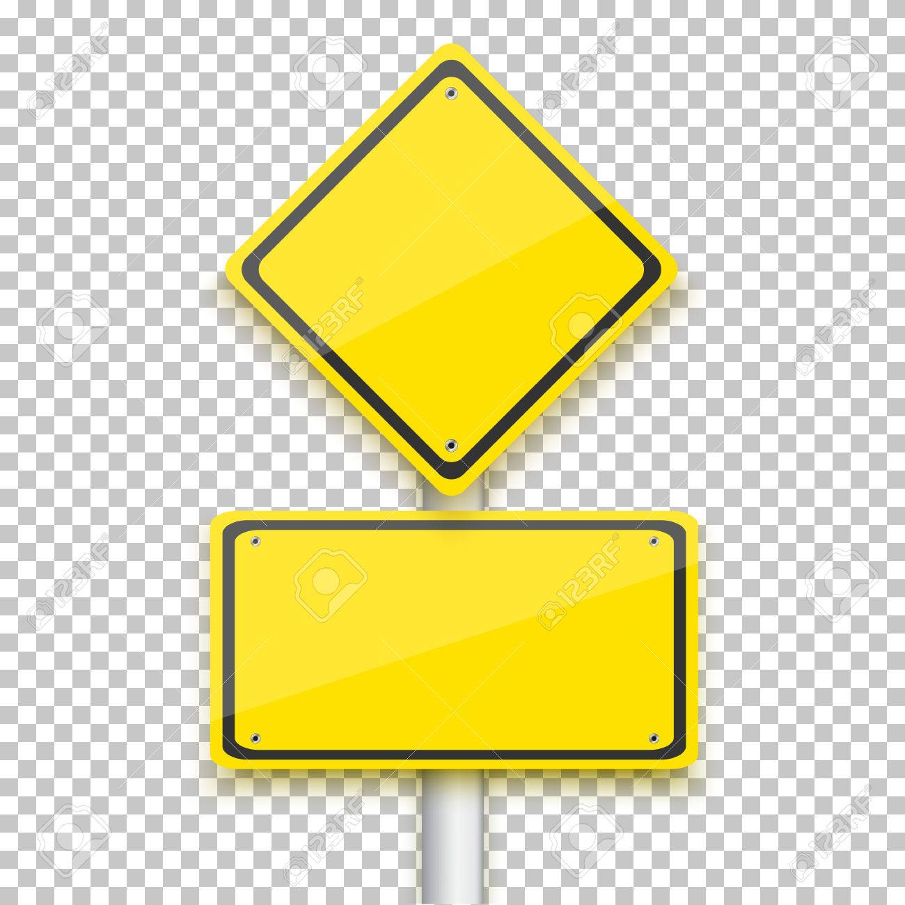 Illustration of Vector Road Yellow Sign - 52310545