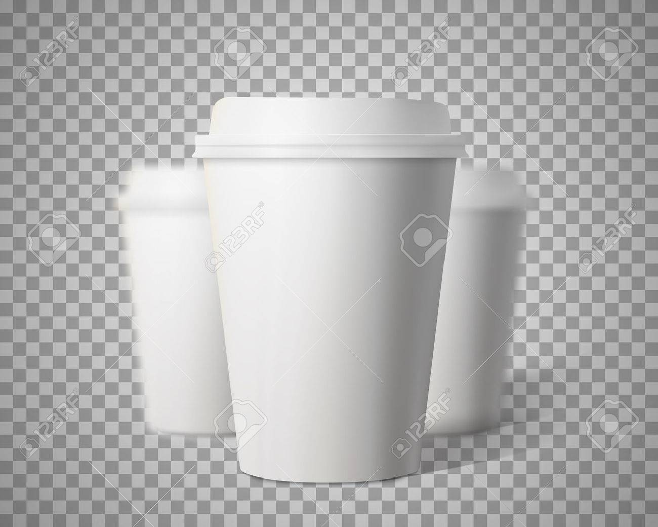 Photo-realistic 3D Paper Coffee Cup Mock-up Set - 52337783