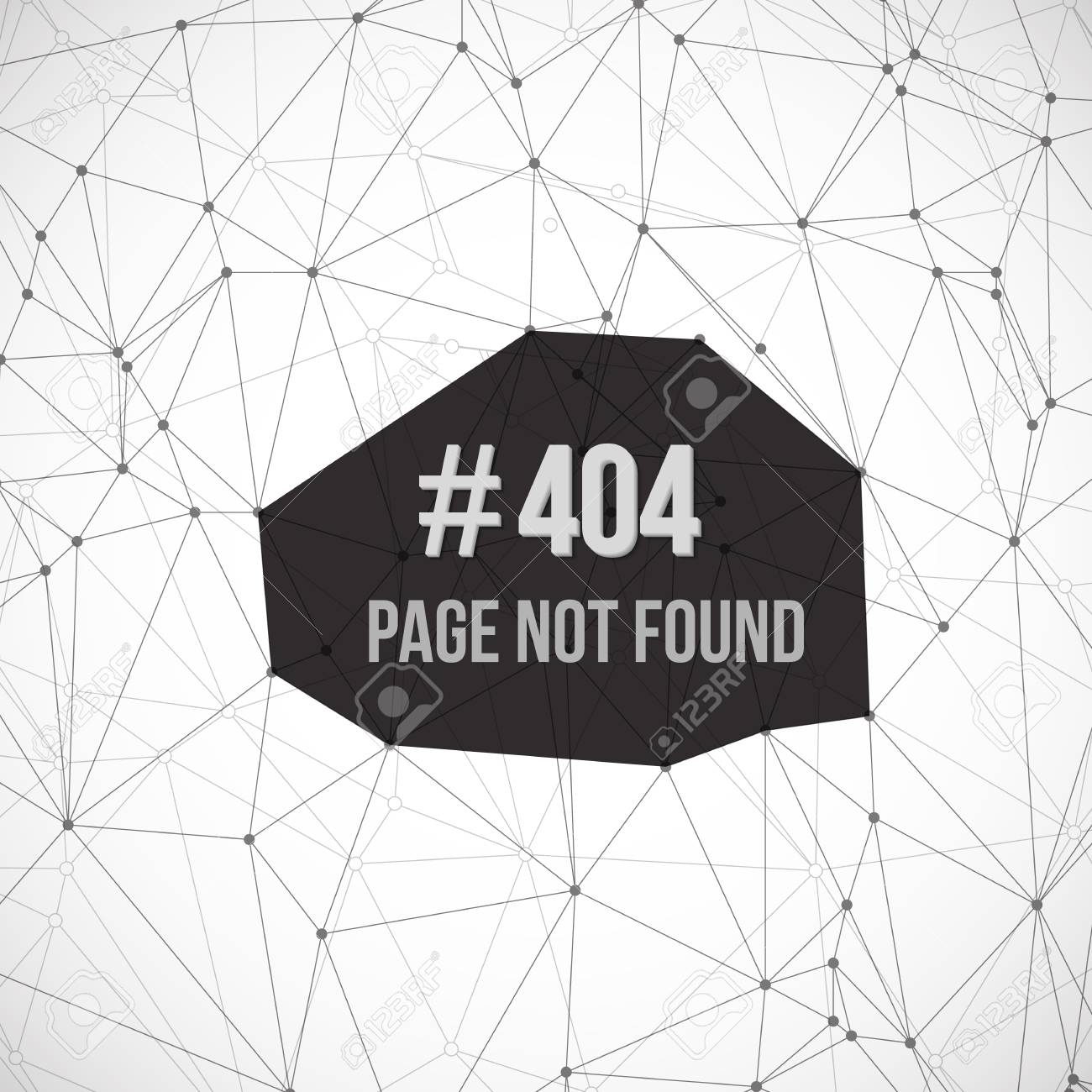 Illustration Of Error 404 Futuristic Wireframe Background. Page ...