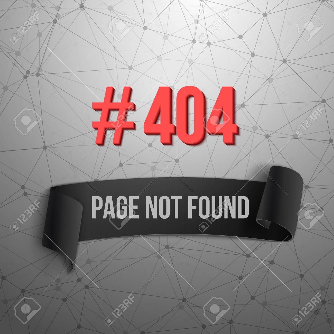 Illustration Of Error 404 Futuristic Wireframe . Page Not Found ...
