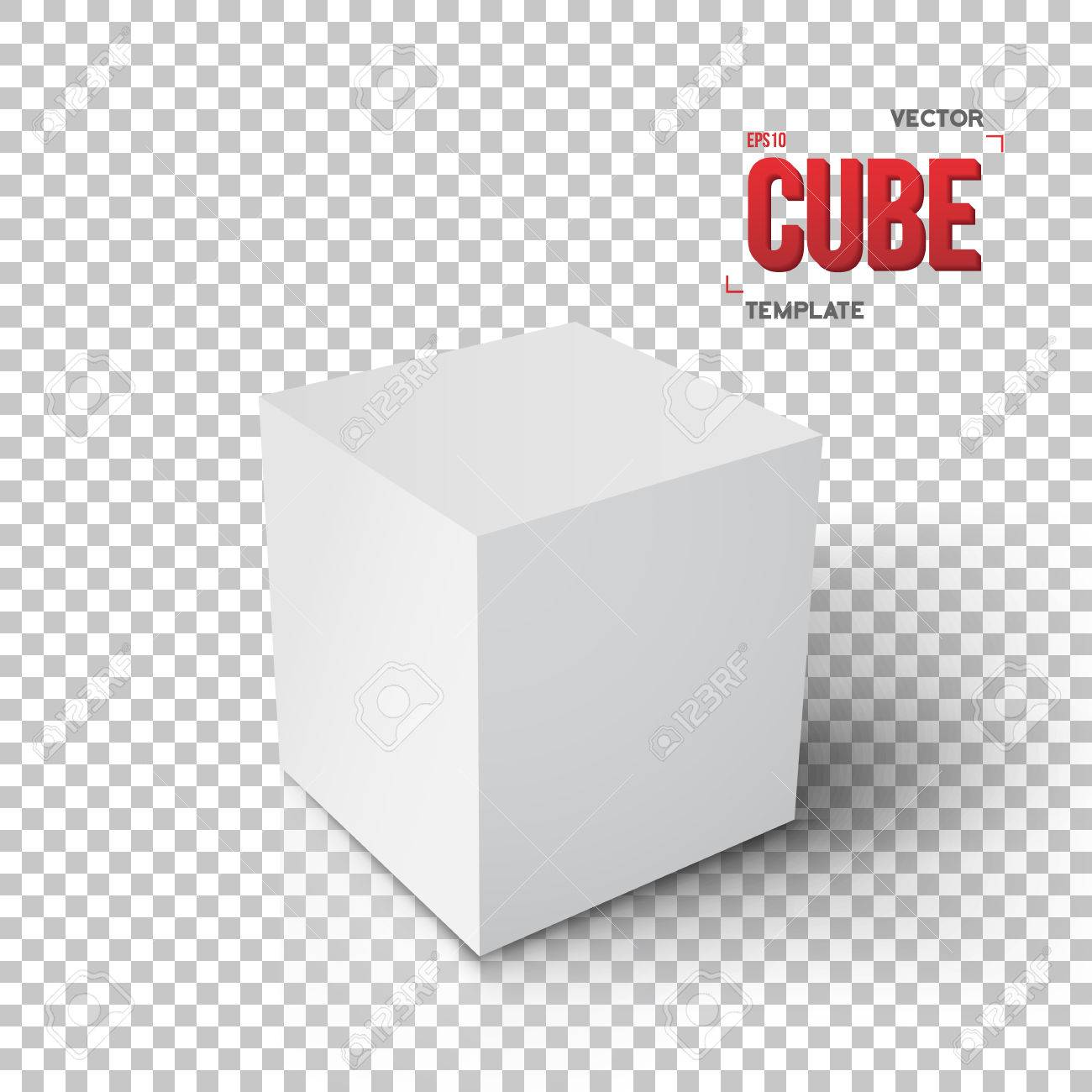 Illustration of realistic cube templateey paper cube isolated illustration of realistic cube templateey paper cube isolated on transparent ps style background stock pronofoot35fo Image collections