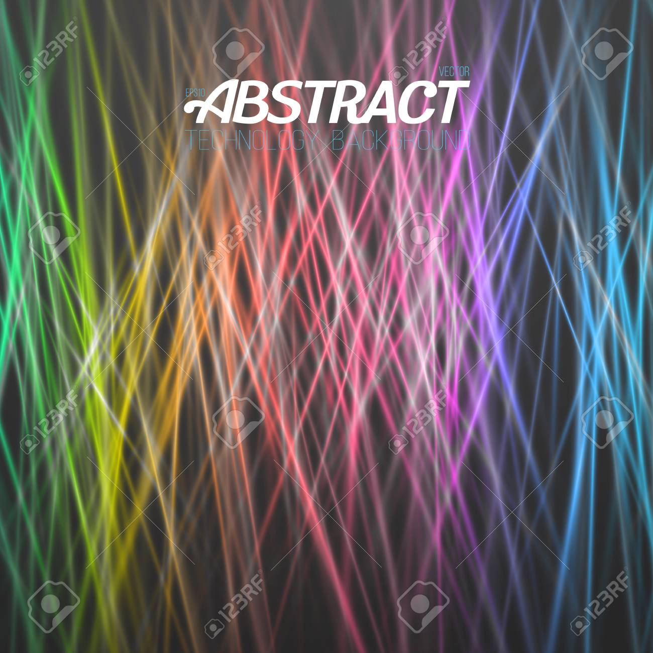 Illustration Of Abstract Light Background. Motion Graphics Disco ...