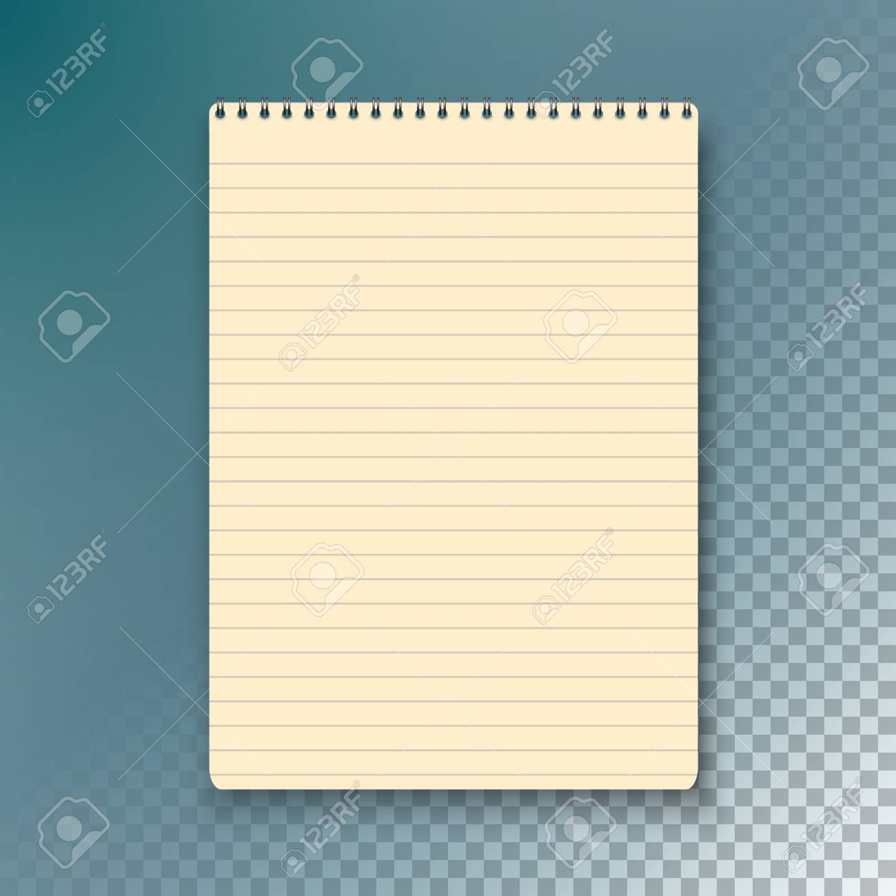 Illustration Of Photorealistic Paper Notebook Template. Notepad ...