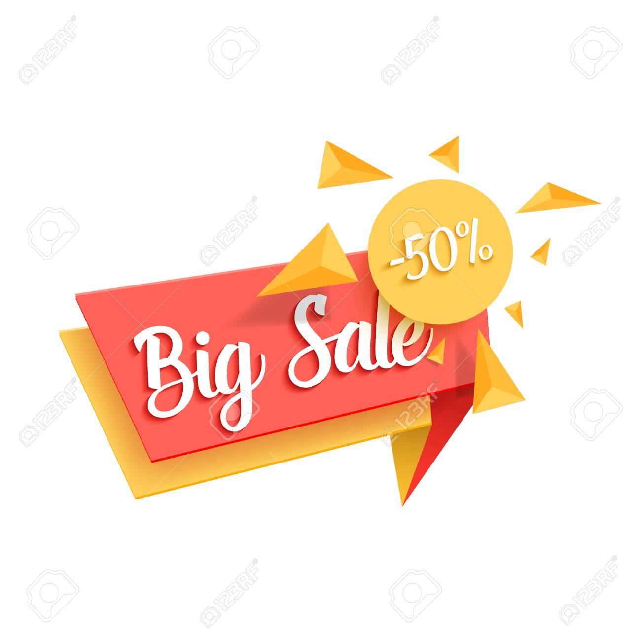 illustration of sale tag template big sale promotion banner