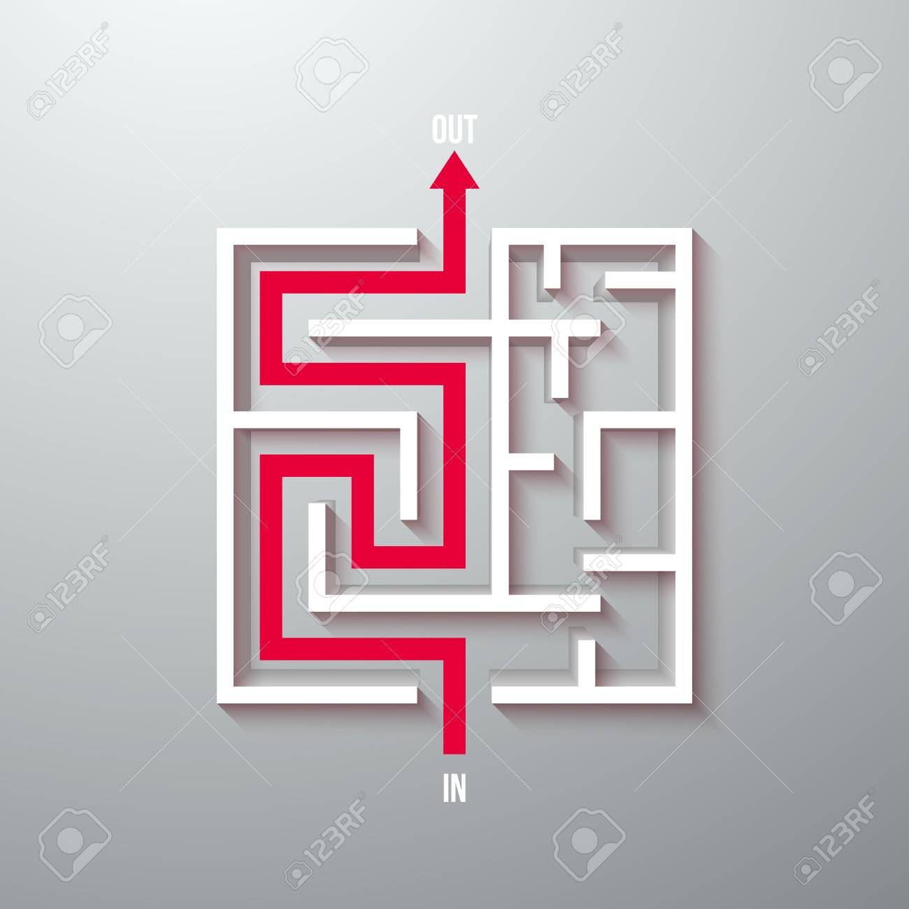 Illustration Of Vector Maze Labyrinth Simple Icon Greek Puzzle