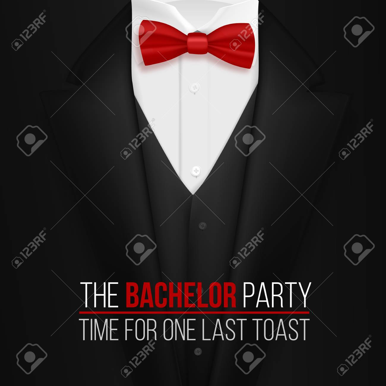 Illustration Of The Bachelor Party Invitation Template Realistic - Bachelor party invitation template