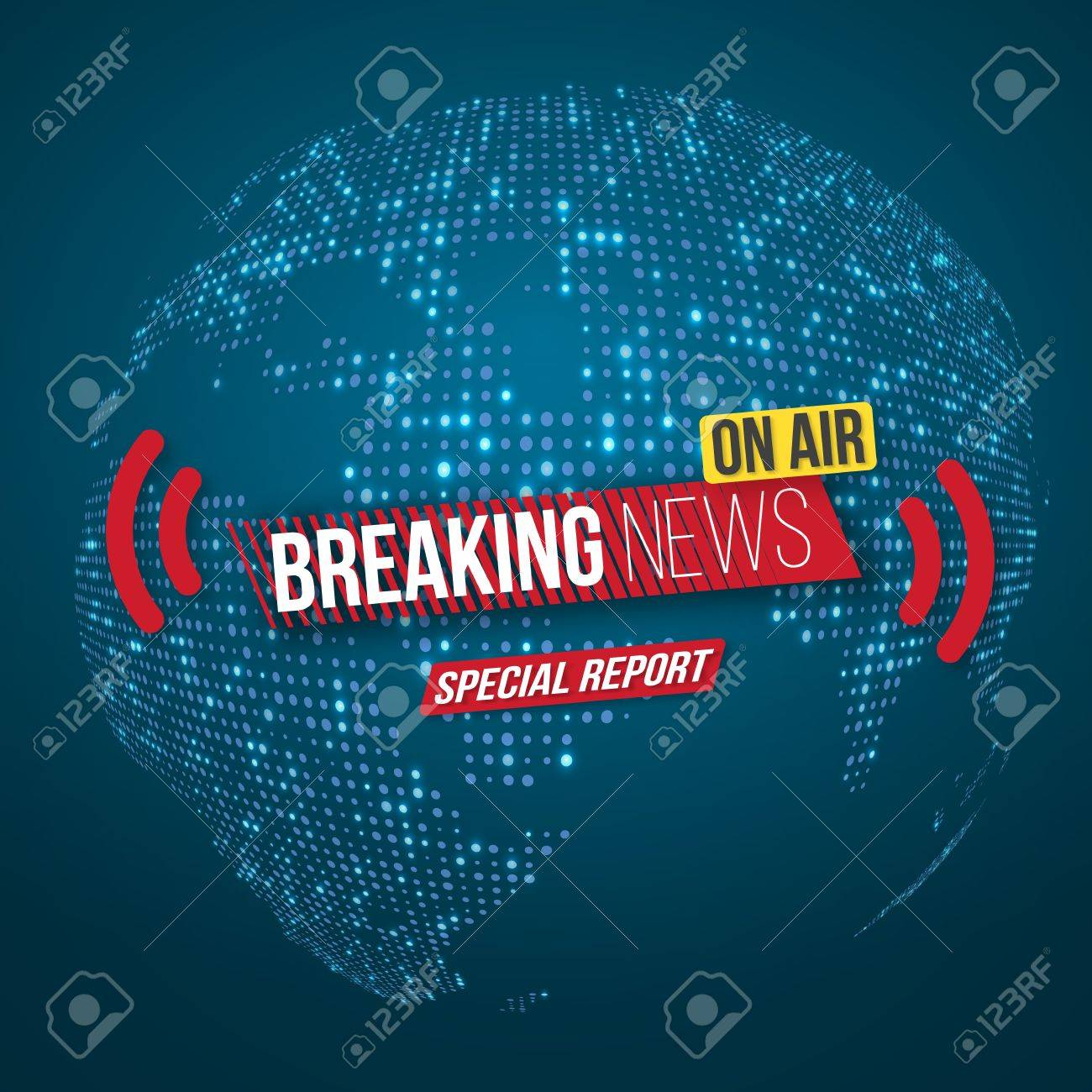 illustration of news banner template breaking news design layout
