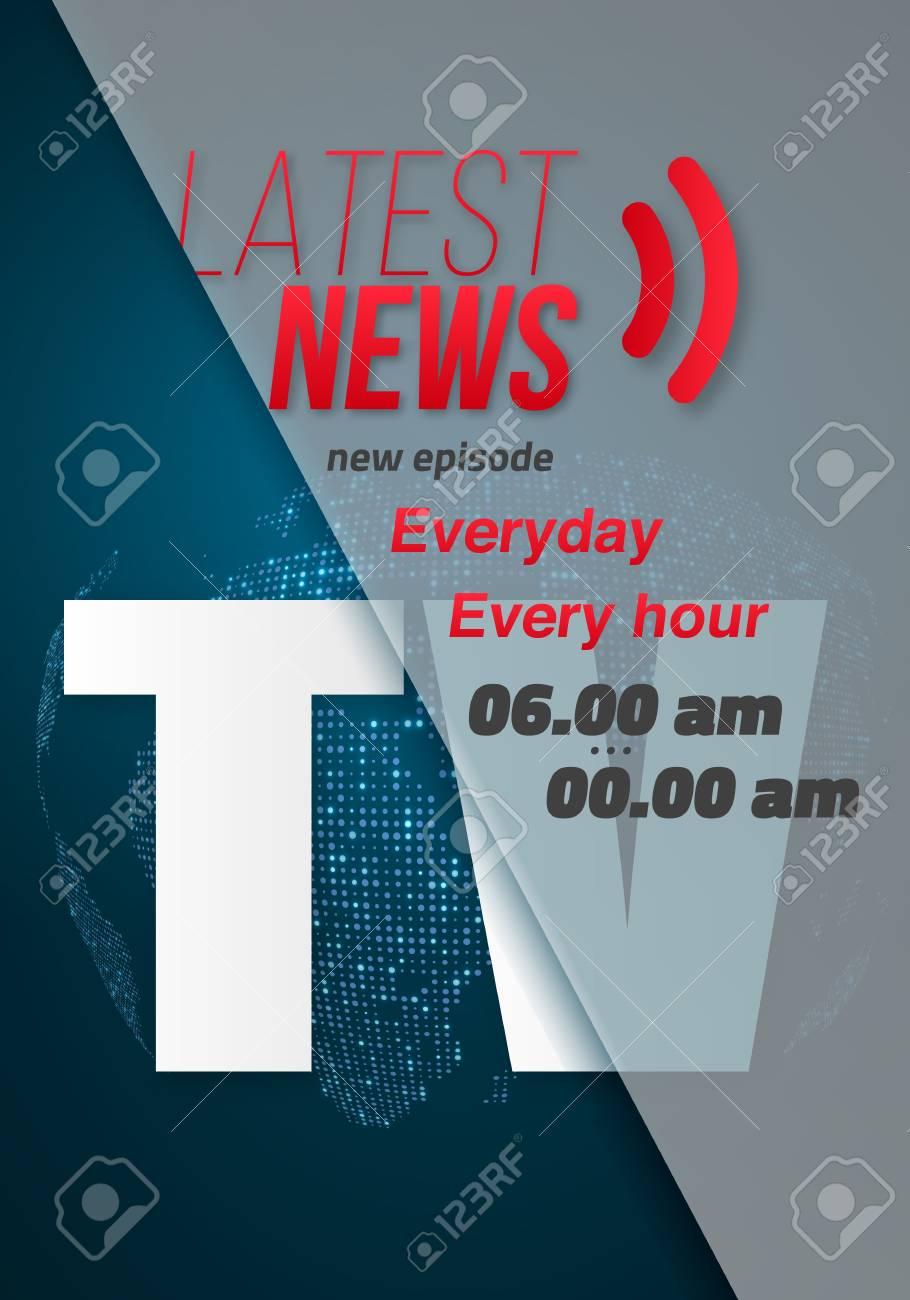 illustration of breaking news banner broadcast news design template
