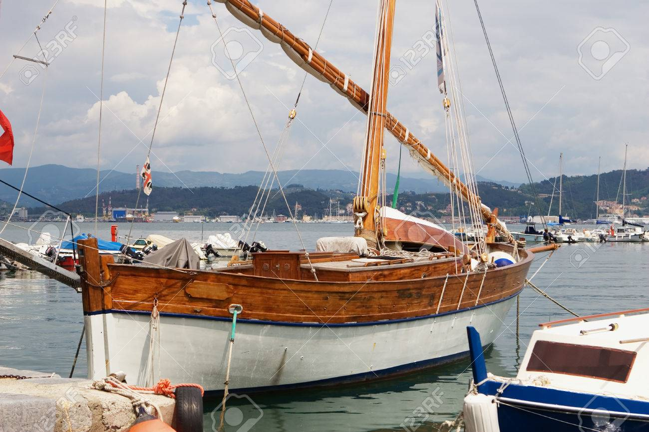 Old Traditional Wooden Yacht