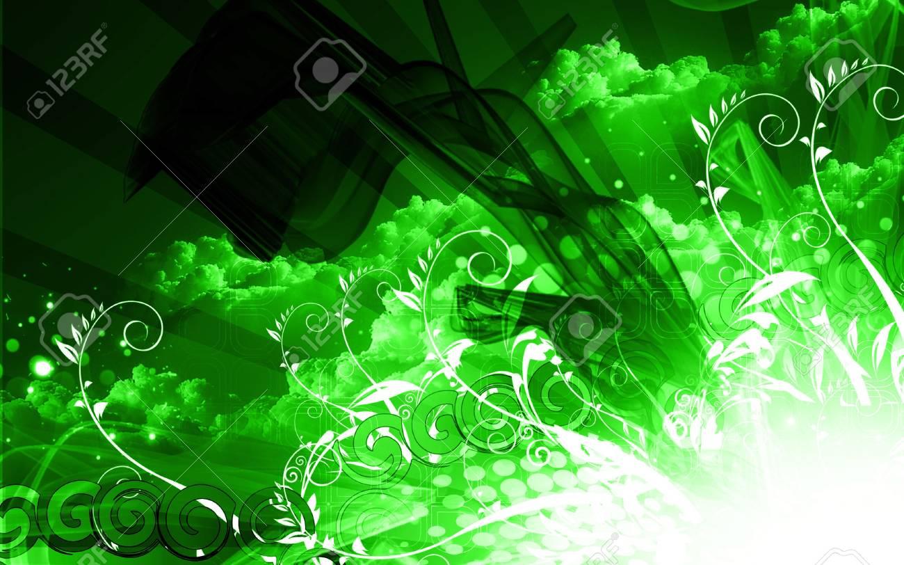 Digital illustration of color in digital background Stock Illustration - 6657442