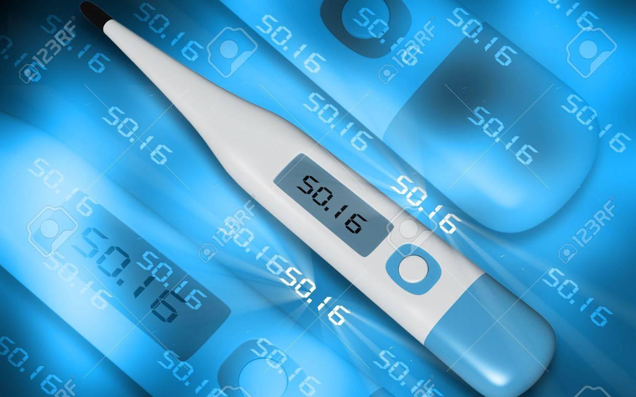 Digital illustration of medical equipment  in color background Stock Photo - 6739366