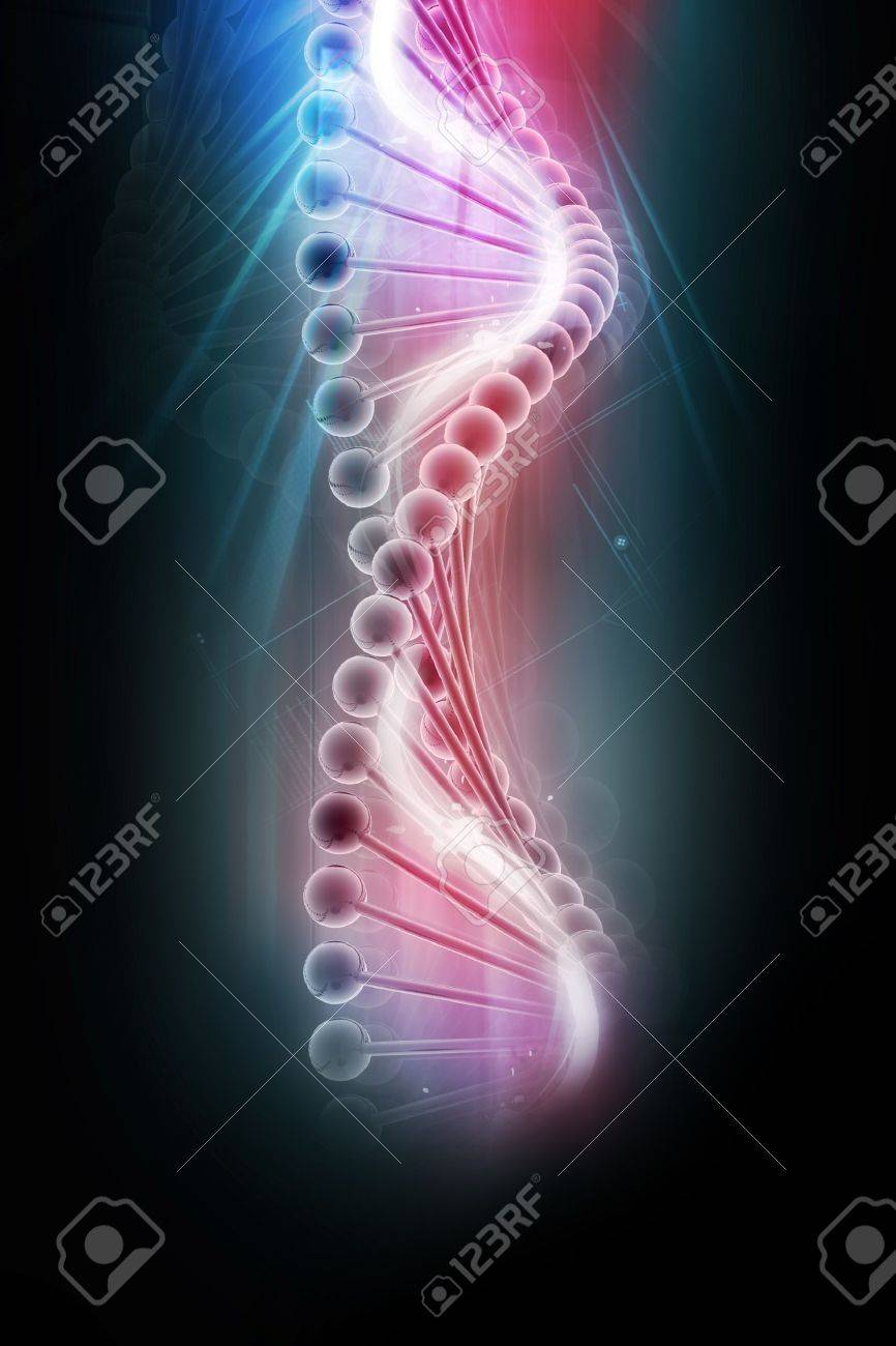 3d dna in color background Stock Photo - 8043753