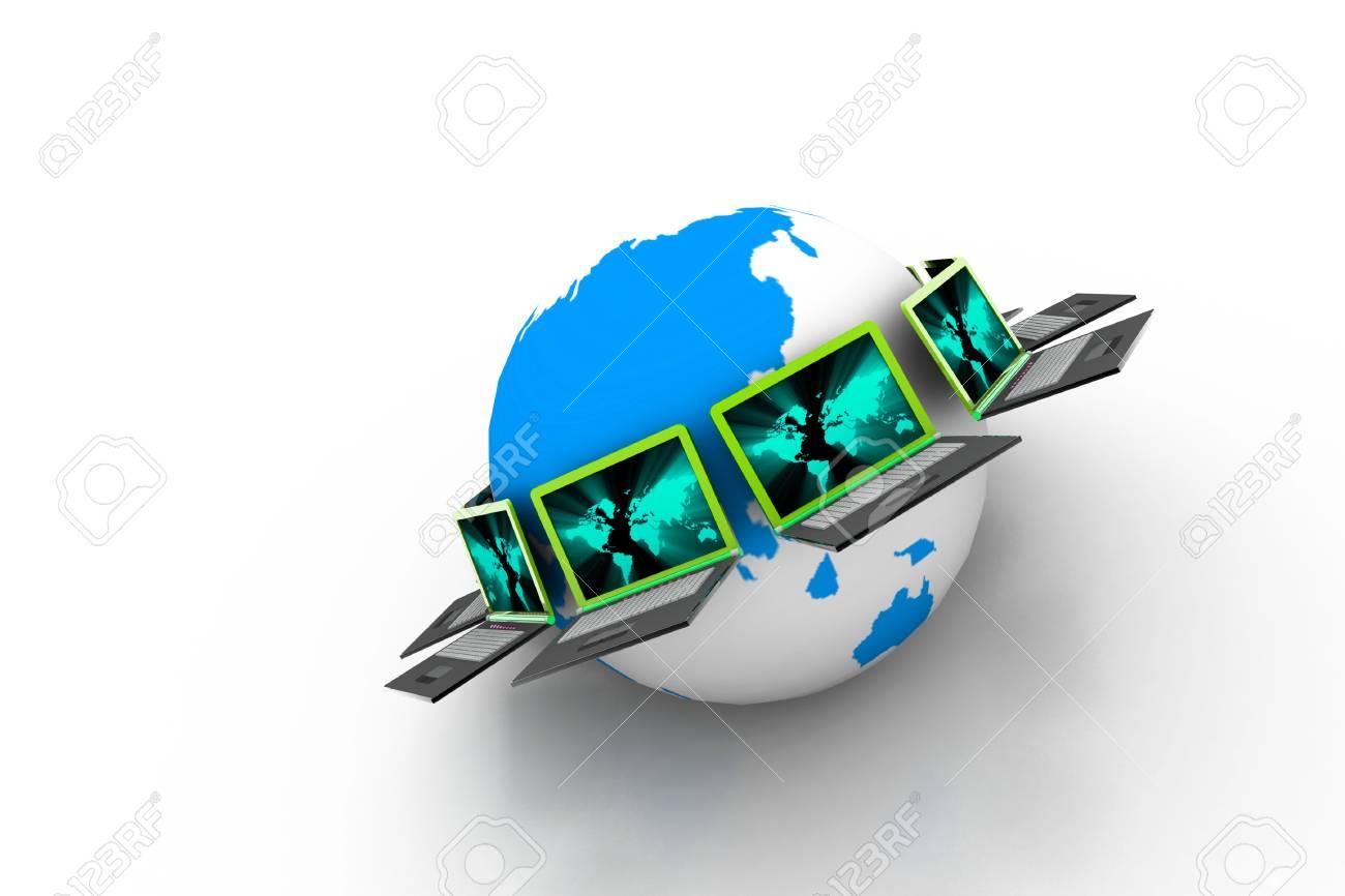 Global computer network Stock Photo - 8067890
