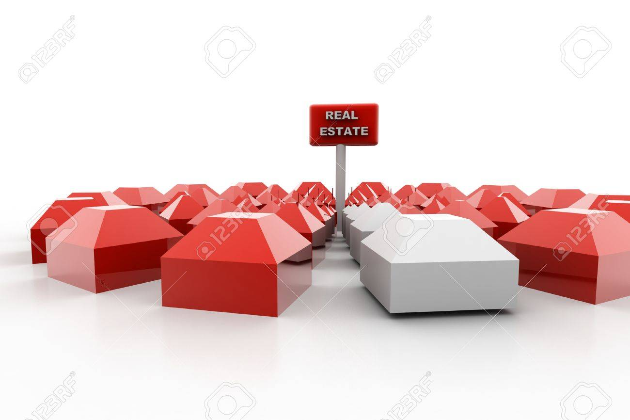 3d rendering of real estate housing market in isolated background Stock Photo - 8368948