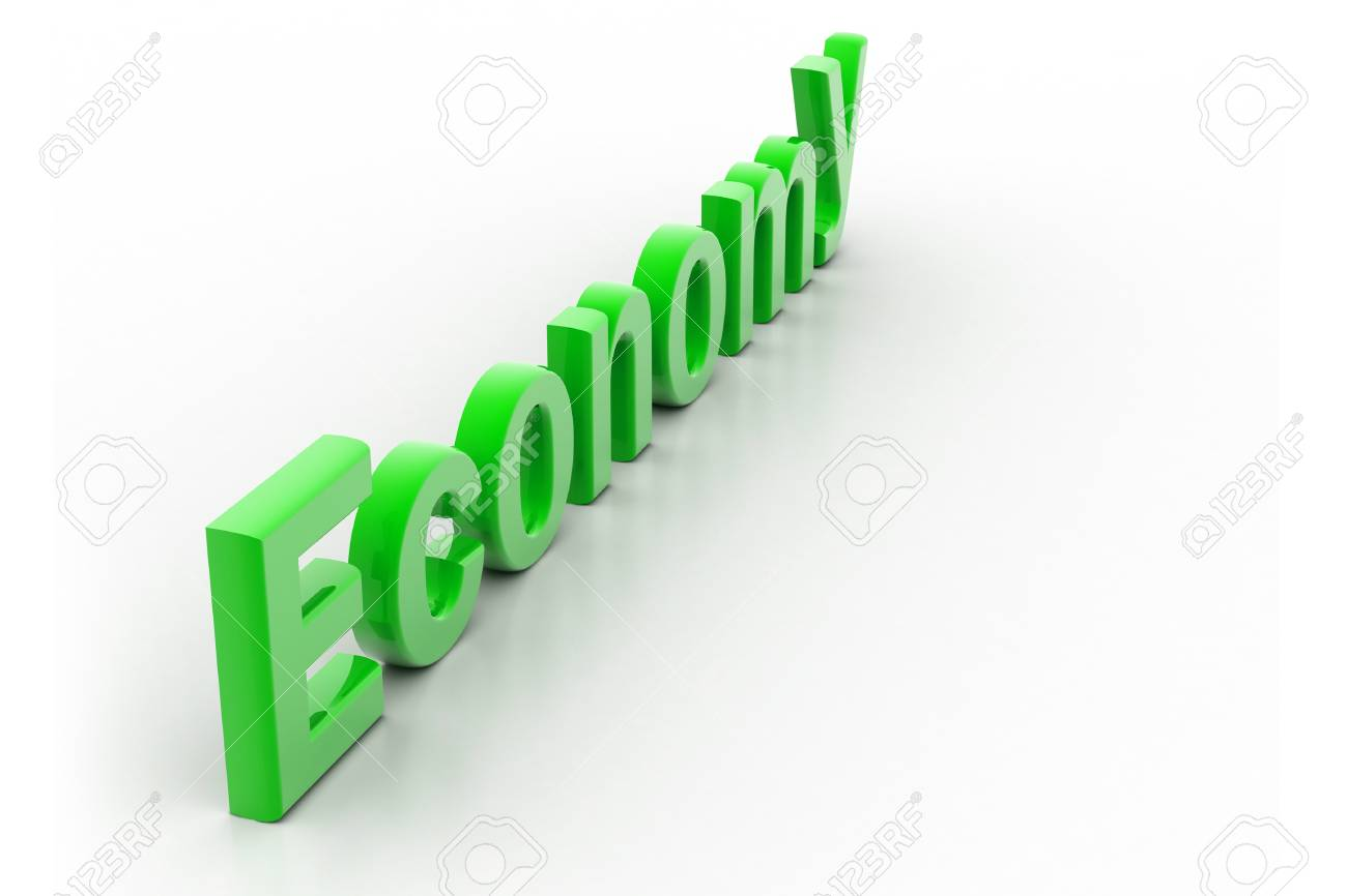 Highly rendering of economy in white background Stock Photo - 8511815