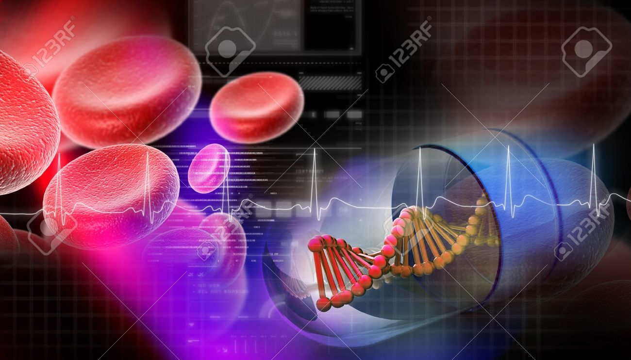 Dna capsule in abstract background Stock Photo - 8948074