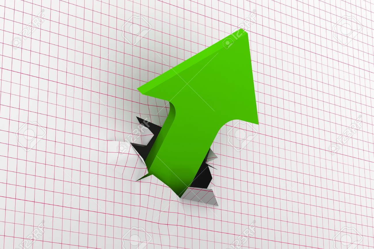 Growth green arrow Stock Photo - 8959522