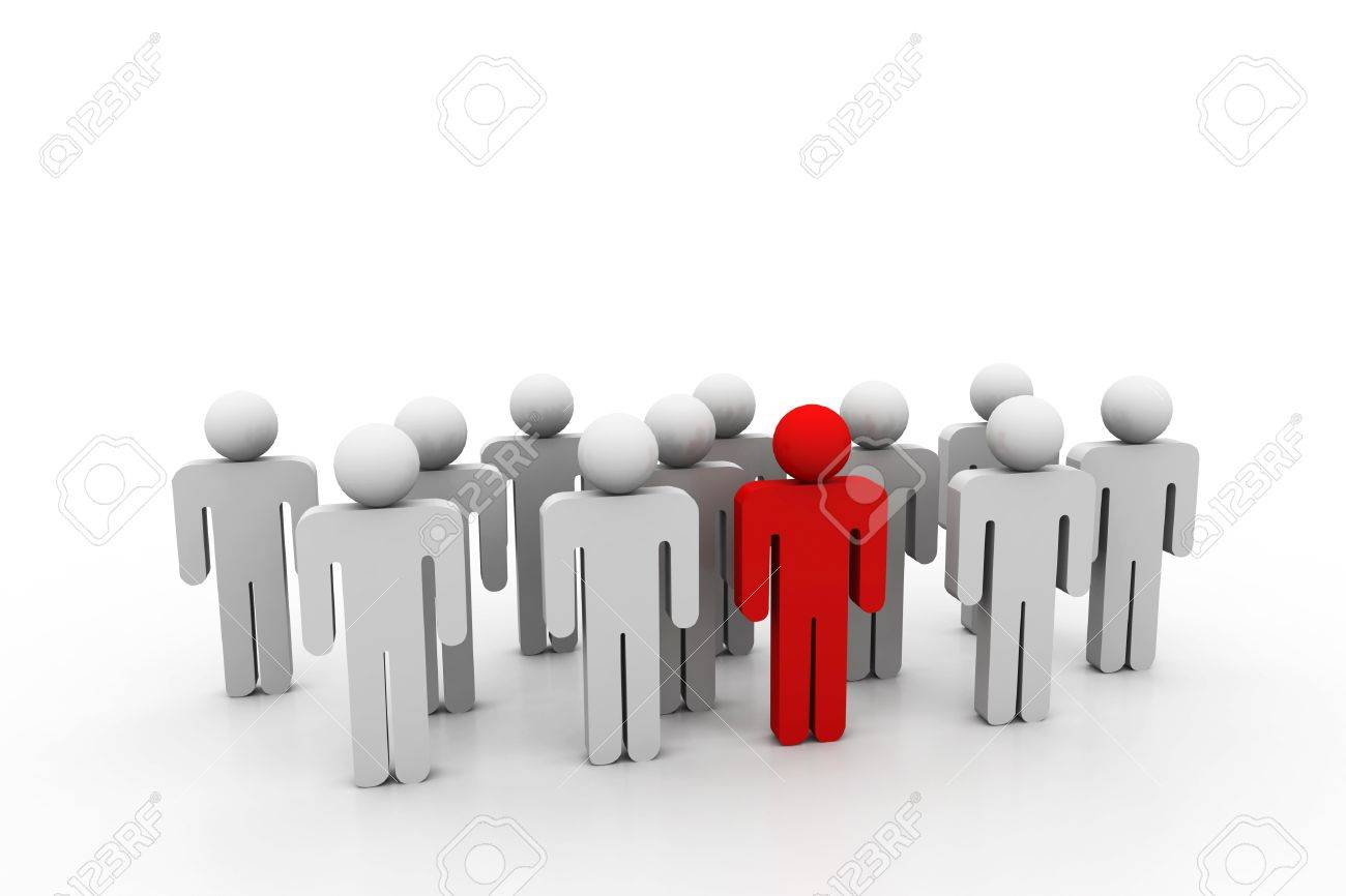 Social network people with leader Stock Photo - 8959085