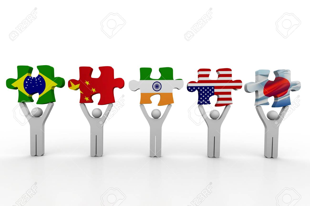 Country puzzle concept Stock Photo - 8959165