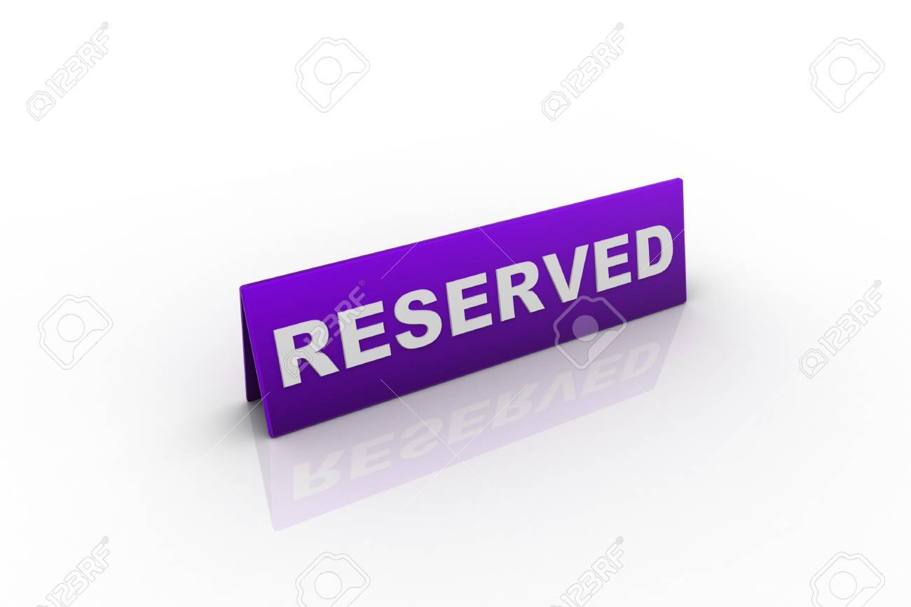 Table illustration Reserved Sign isolated over a white background. Stock Photo - 9237779