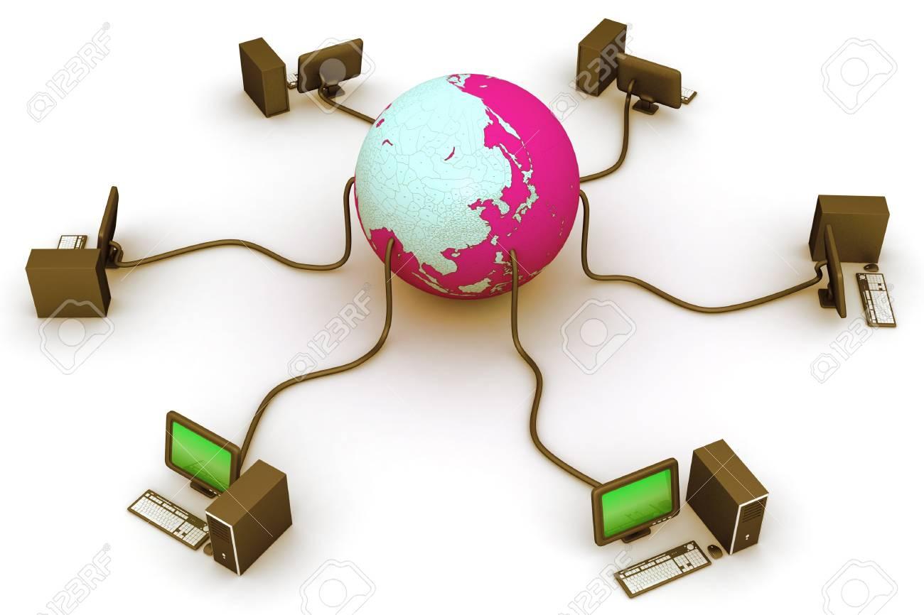 Global network Stock Photo - 9336905