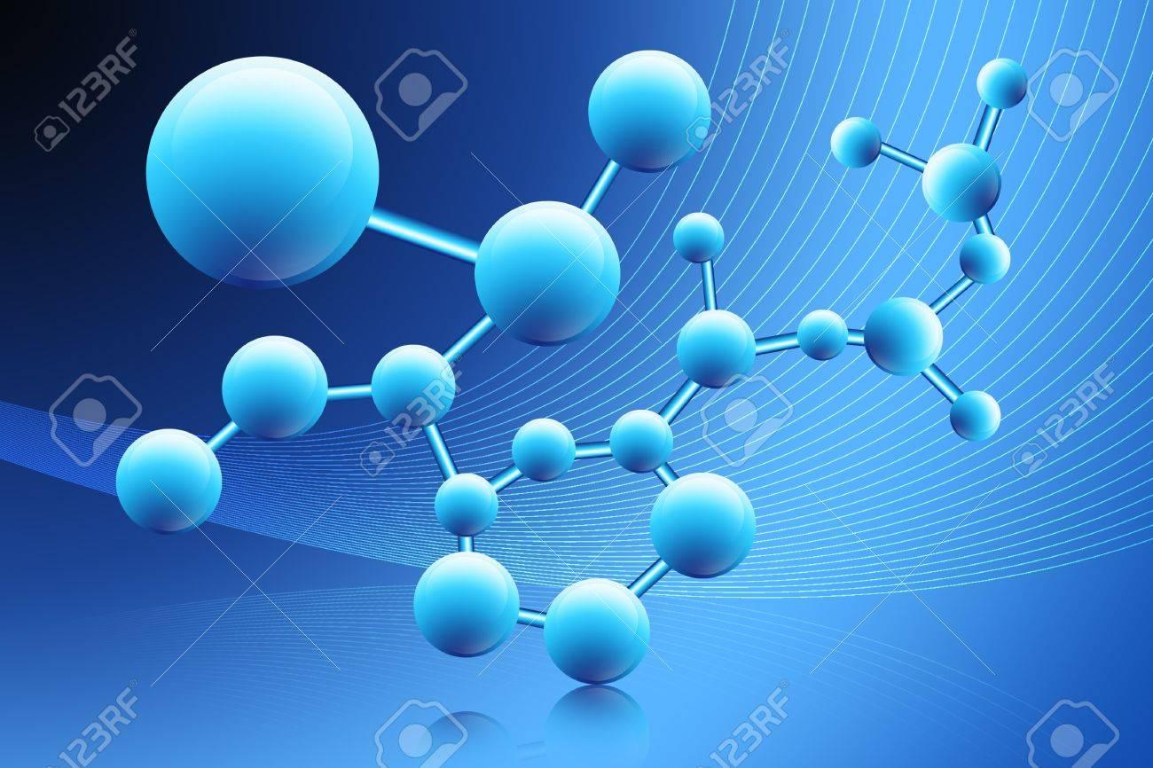 Digital illustration of moleculeabstract - 9533169