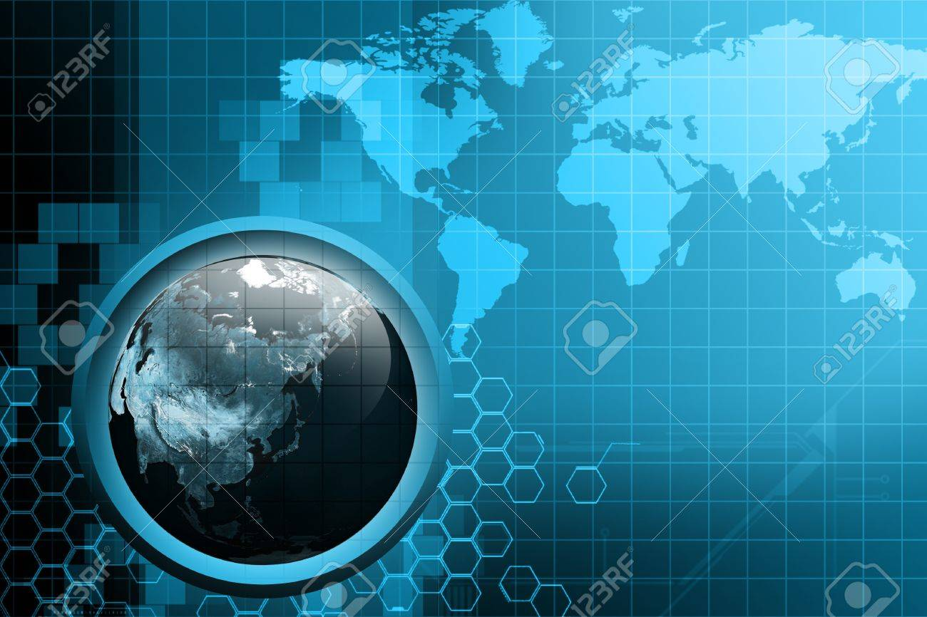 Earth on digital technology background Stock Photo - 9533695