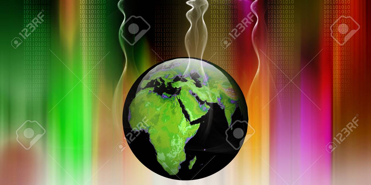 Concept of digital earth Stock Photo - 9755583