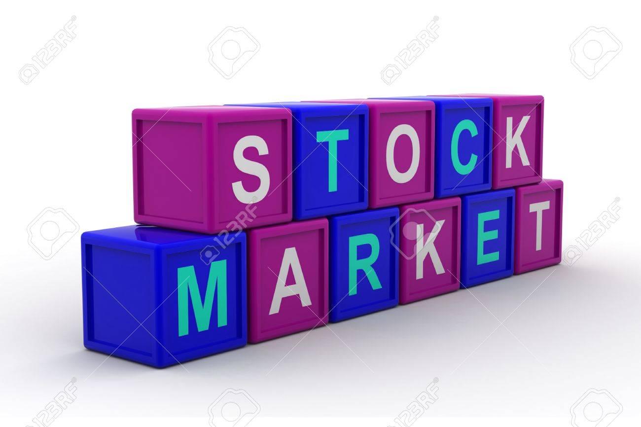 Stock market text Stock Photo - 9776015