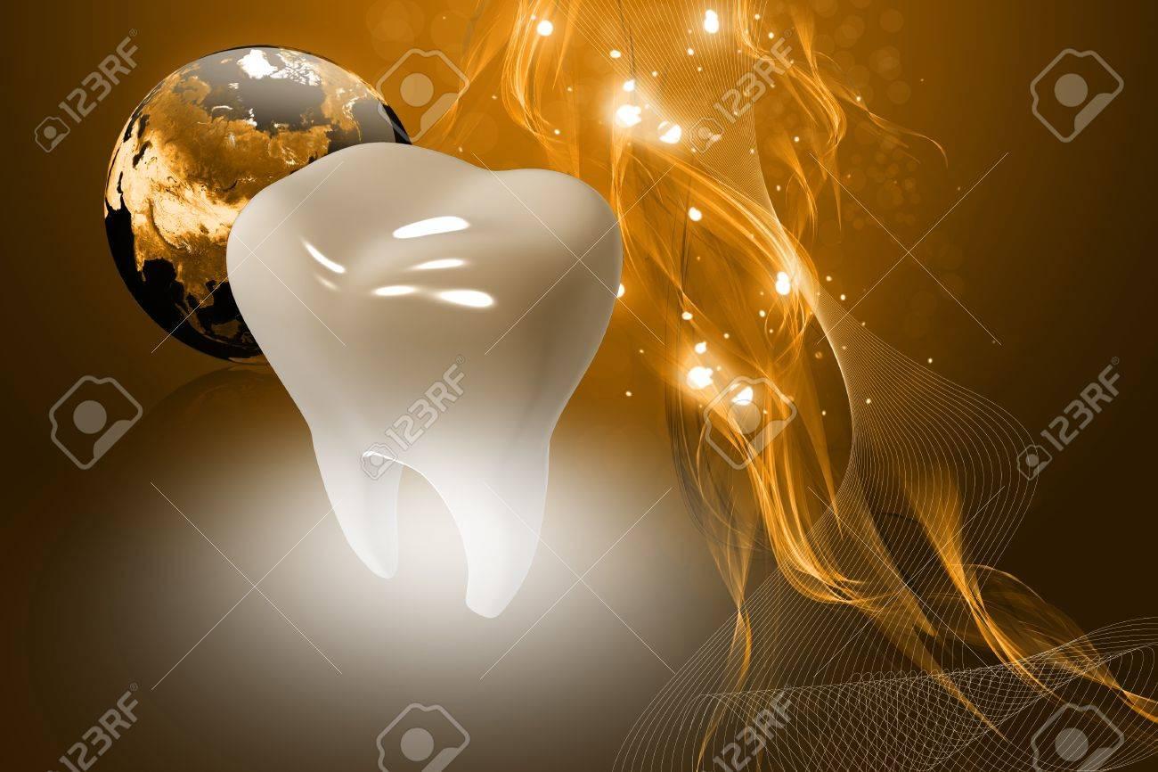Digital illustration of teeth in color background Stock Illustration - 9953824