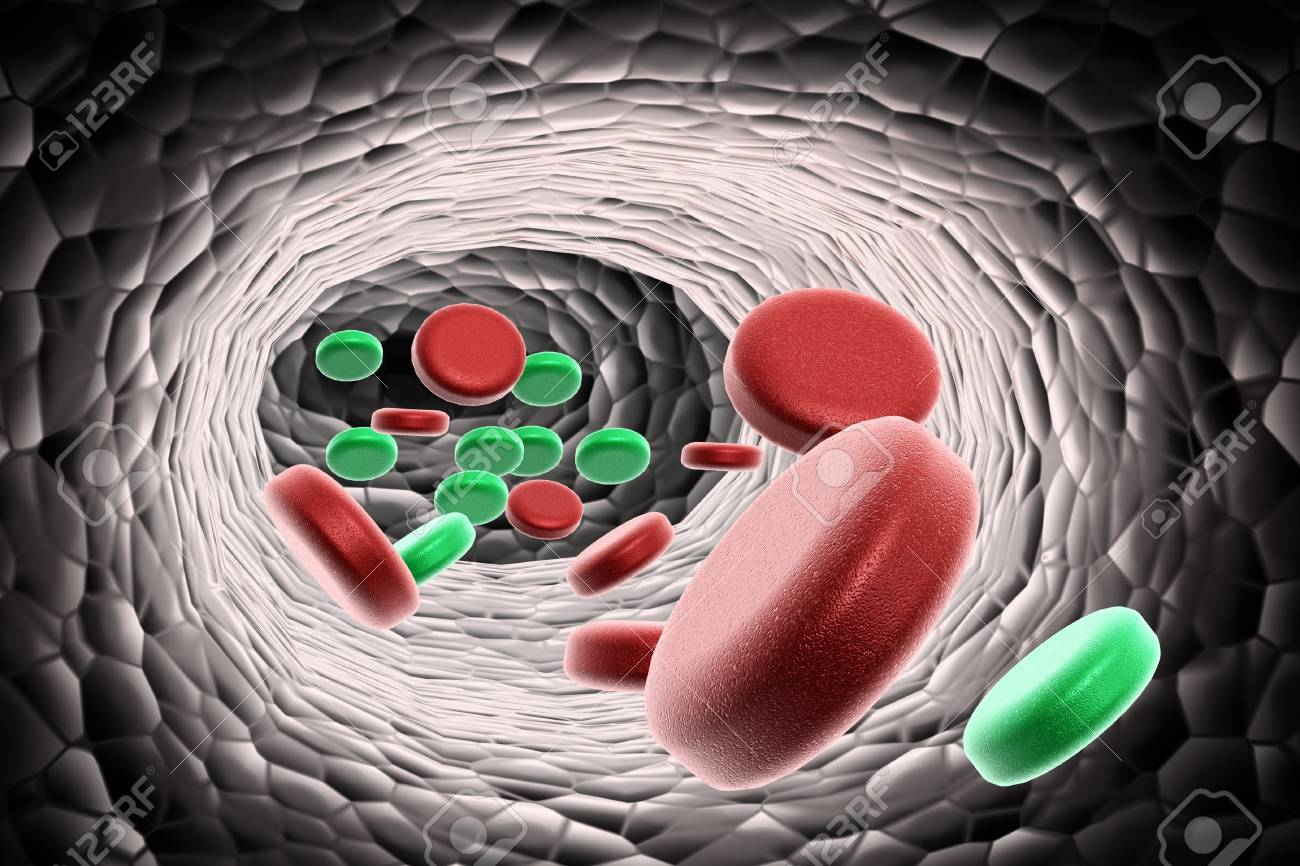 blood cells with virus Stock Photo - 10313473