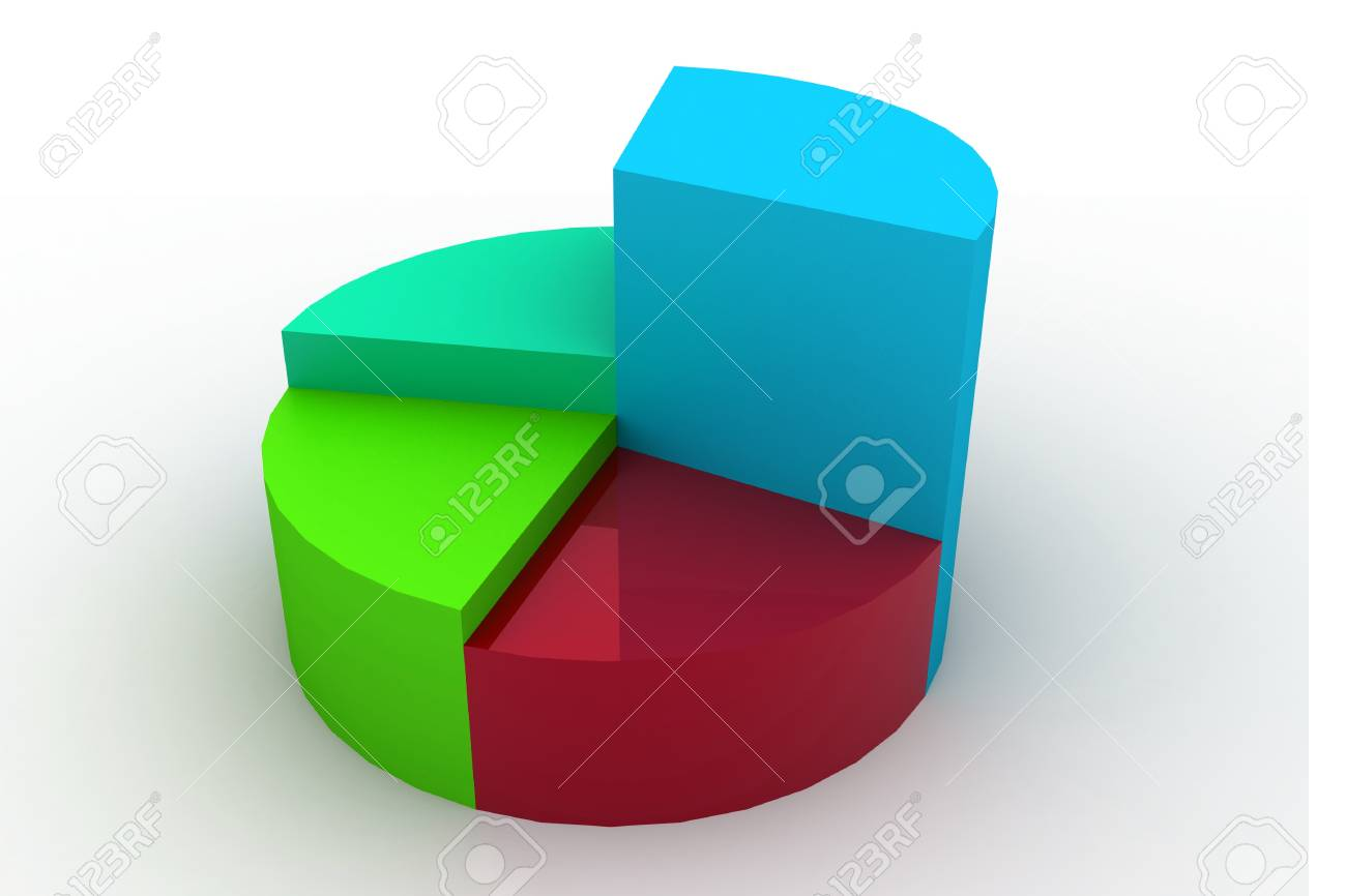 3d rendering of pie graph in isolated background Stock Photo - 10160093