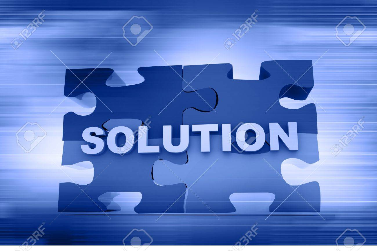 Solution concept in abstract background Stock Photo - 10296017