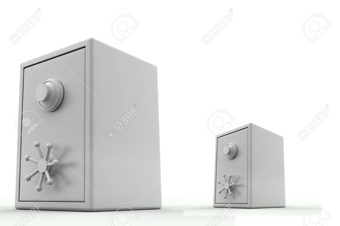 Safe in isolated background Stock Photo - 11316299