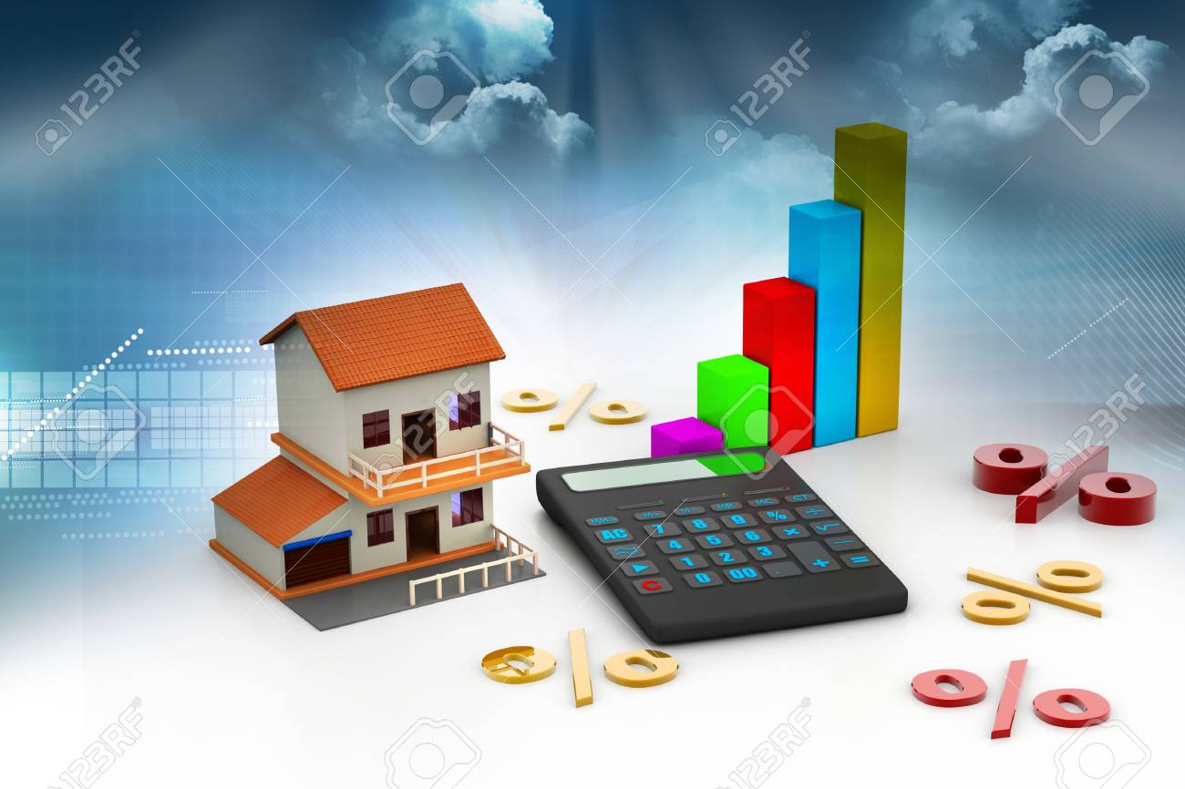 sale house and calculator stock photo picture and royalty free