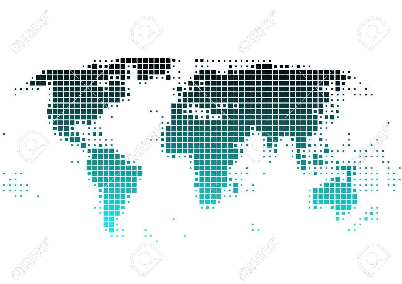 Vector world map of squares royalty free cliparts vectors and vector world map of squares stock vector 2923079 gumiabroncs Image collections
