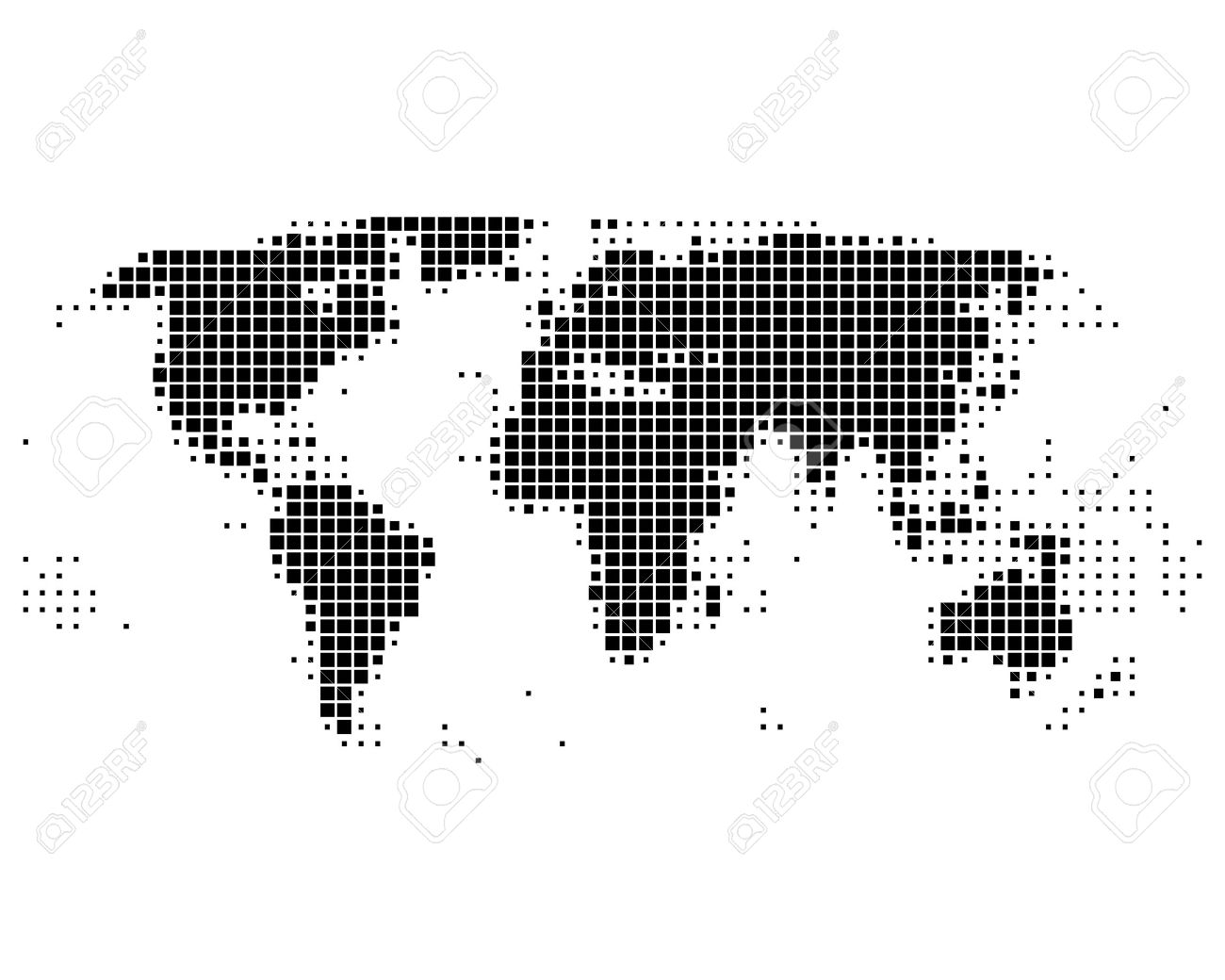 World map in squares royalty free cliparts vectors and stock vector world map in squares gumiabroncs Image collections