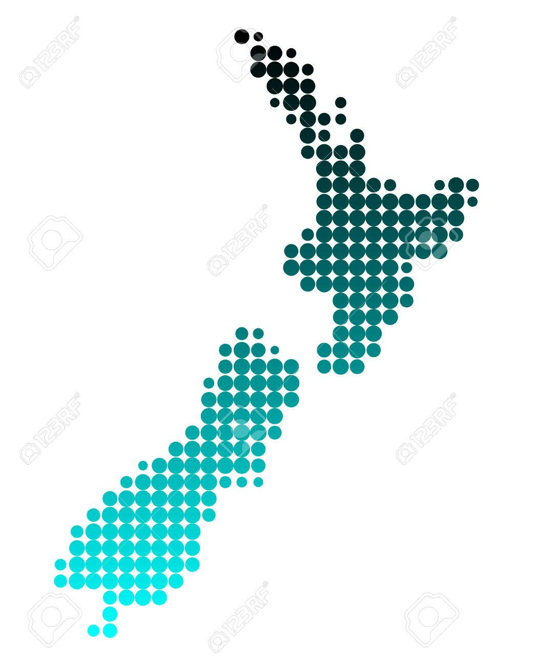 Map of New Zealand Stock Vector - 5775915