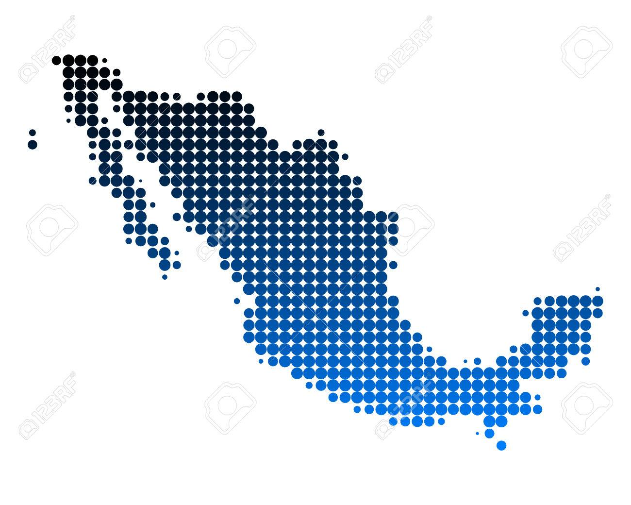 Map of Mexico Stock Vector - 6063626