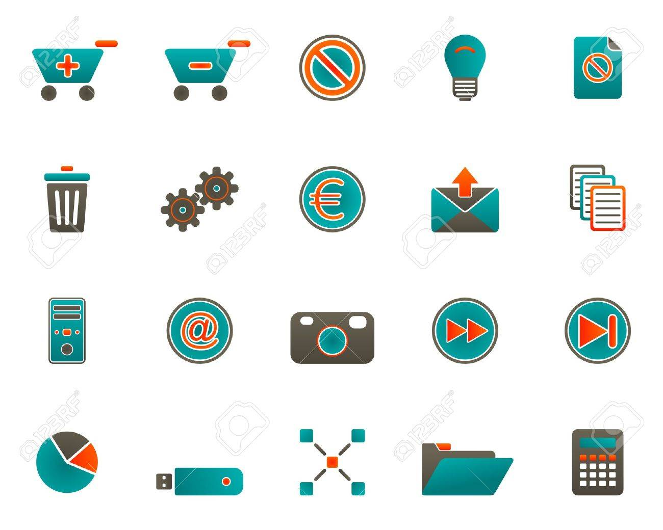 Web icons Stock Vector - 7504808