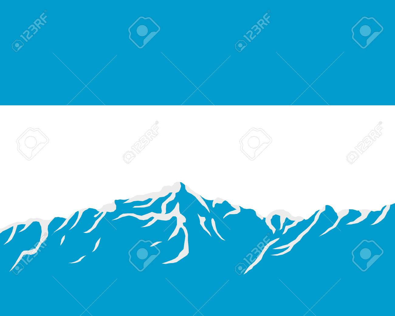 Mountains with flag of Argentina Stock Vector - 8377864