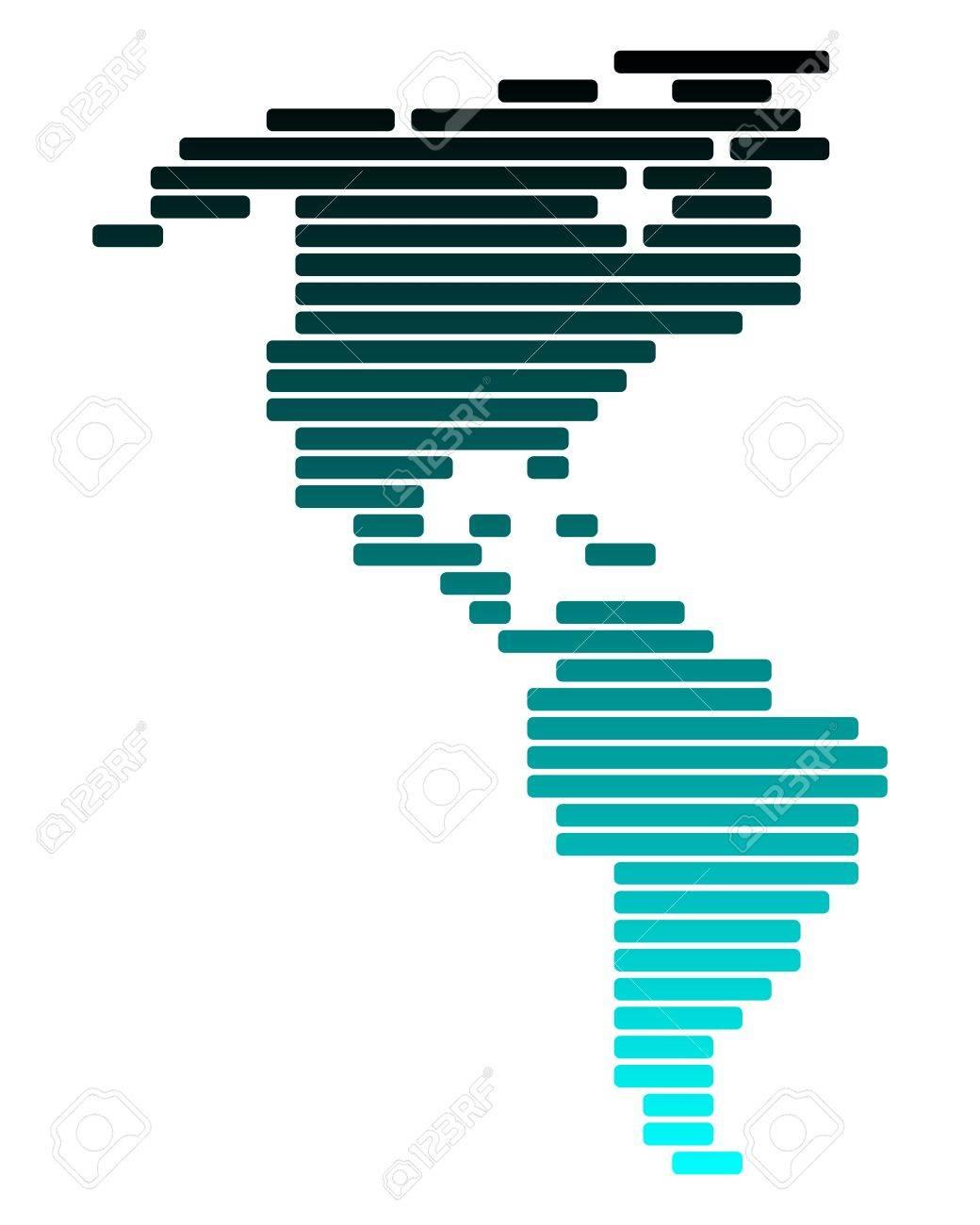 Map of America Stock Vector - 8455374