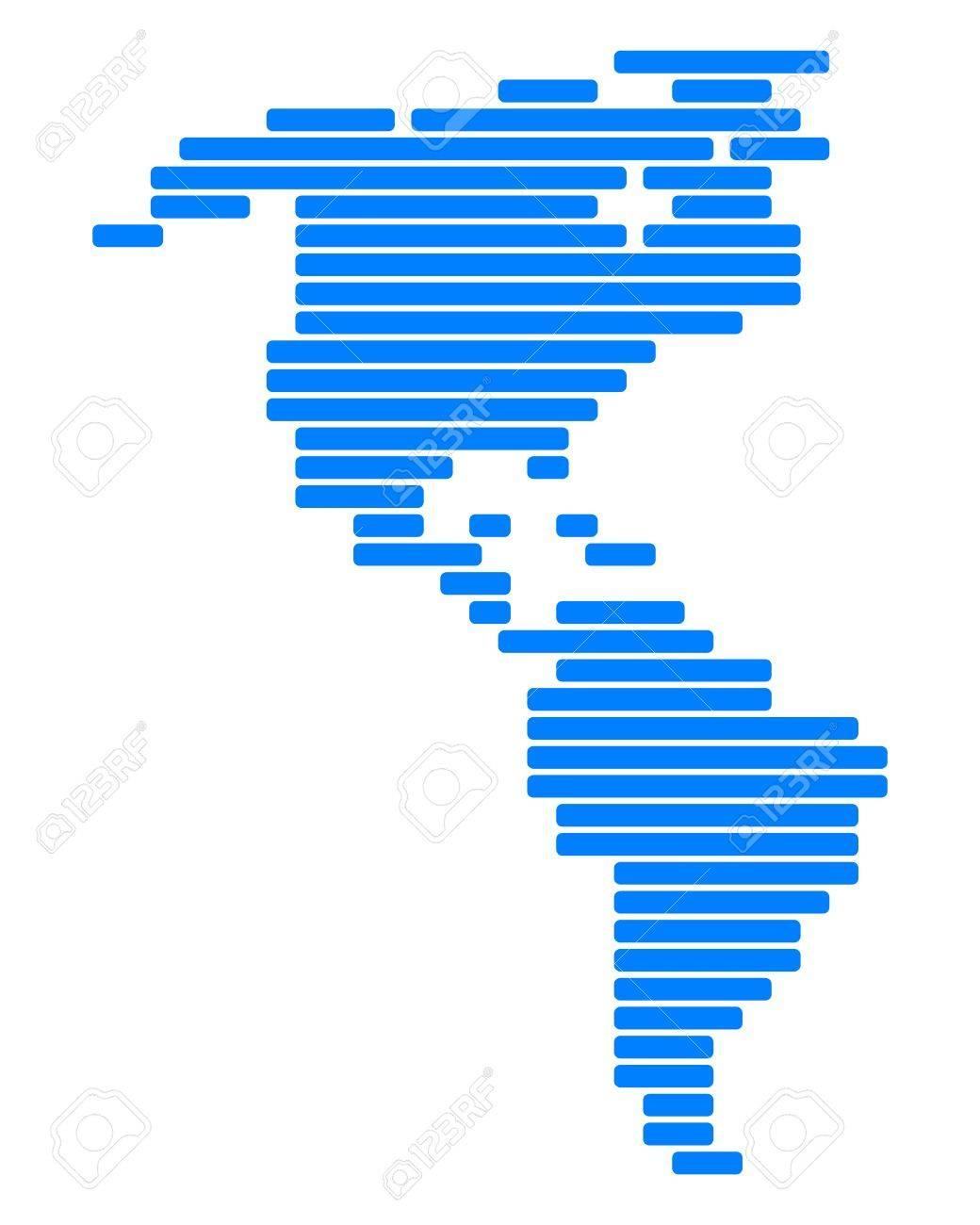Map of America Stock Vector - 8694557